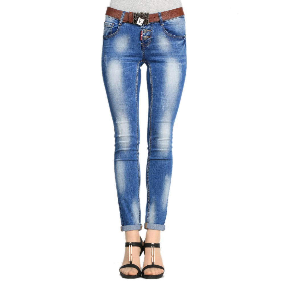 2017 Brand Spring Women Wide Leg Jeans High Waist Jeans Slim Femme Pants Skinny Women Denim Plus Large Size 30 Skinny Elastic charter club women s comfort waist slim leg pants 18 warm toffee