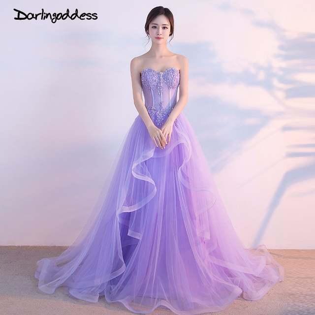 Darlingoddess Robe De Mariee Beach Wedding Dress 2018 Purple Off The  Shoulder Lace Up Sleeveless Bridal 44442bdbbed0