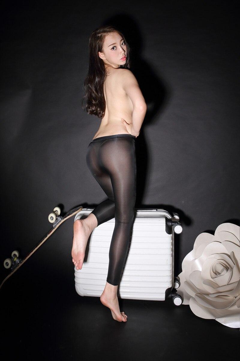 Seamless ultra-thin transparent elastic seamless legging skinny legging pants