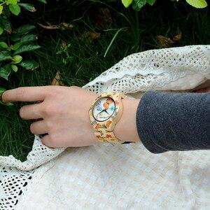 Image 2 - Женские бамбуковые часы BOBO BIRD, дизайнерские часы с принтом и кварцевым механизмом, бамбуковые наручные часы с ремешком для женщин, часы для женщин, часы для женщин с принтом, кварцевые часы с бамбуковым ремешком, наручные часы для женщин, часы для женщин с принтом