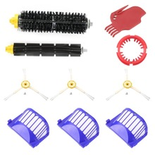 3 pcs Side Brush 3 pcs Vacuum Cleaner Filter One Rolling Brush Glue Brush Flat Comb Circular For Robot
