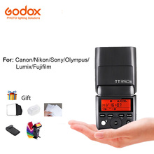 Godox Mini Speedlite TT350S TT350c tt350f Câmeras Flash TTL HSS 2.4G Controle Sem Fio Para Olympus Nikon Canon Sony Fujifilm