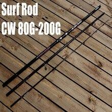 Бесплатная Доставка XABA 4.2 м 3 Раздел Surf Литья Rod 80 г-200 г Surfcasting Род Дальнего Заброса Рыбалка стержень