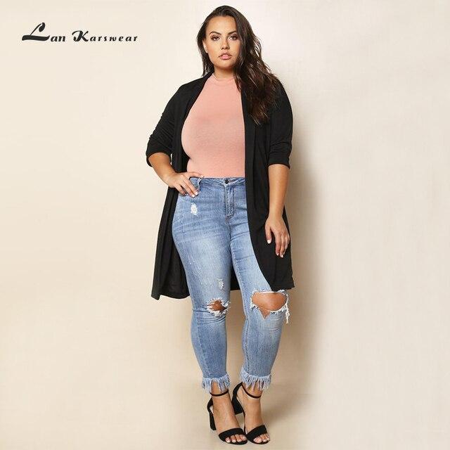 Lan Karswear 2018 Autumn Spring Women Long Sleeve Cardigan Sweater Knitted Cardigans  Women Plus Size Long Cardigan 83b17a453