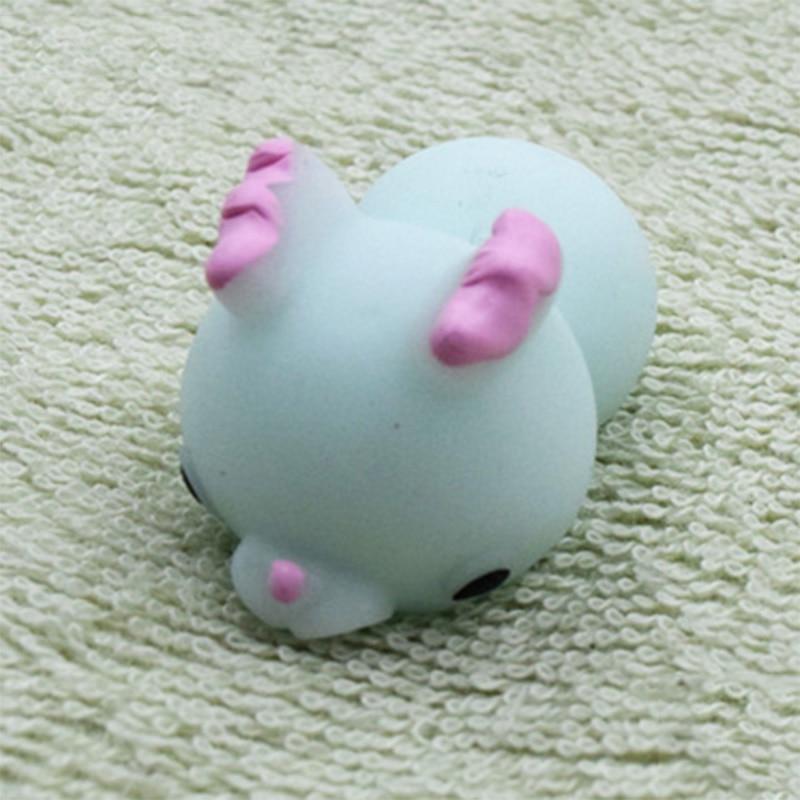 Забавный подарок милые антистрессовые мягкие игрушки милый мягкий силиконовый сжимающий руку детская игрушка Kawaii хлюпает животных Медведь Кролик WY30 - Цвет: WJ0334-NNL