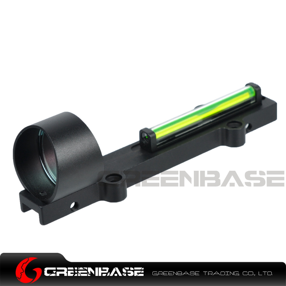 Greenbase Tactical Hunting 1x28 Fiber Sight Green Dot Scope Fit Airsoft Shotguns Rib Rail Reflex Sight Fiber Optic 11mm Mount tactical reflex red green dot sight scope w dual high low profile rail mounts airsoft hunting