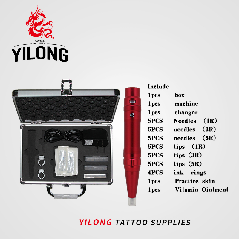 YILONG Free Shipping Tattoo kit tattoo machine high quality 35000R/M Profession Permanent Makeup machine eyebrow lips pen 262 professional permanent makeup kit new dark black high quality tattoo eyebrow machine pen free shipping