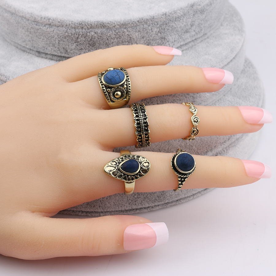 Bohemian Vintage Midi Finger Knuckle Rings Set Silver Finger Ring Jewelry Gut CN