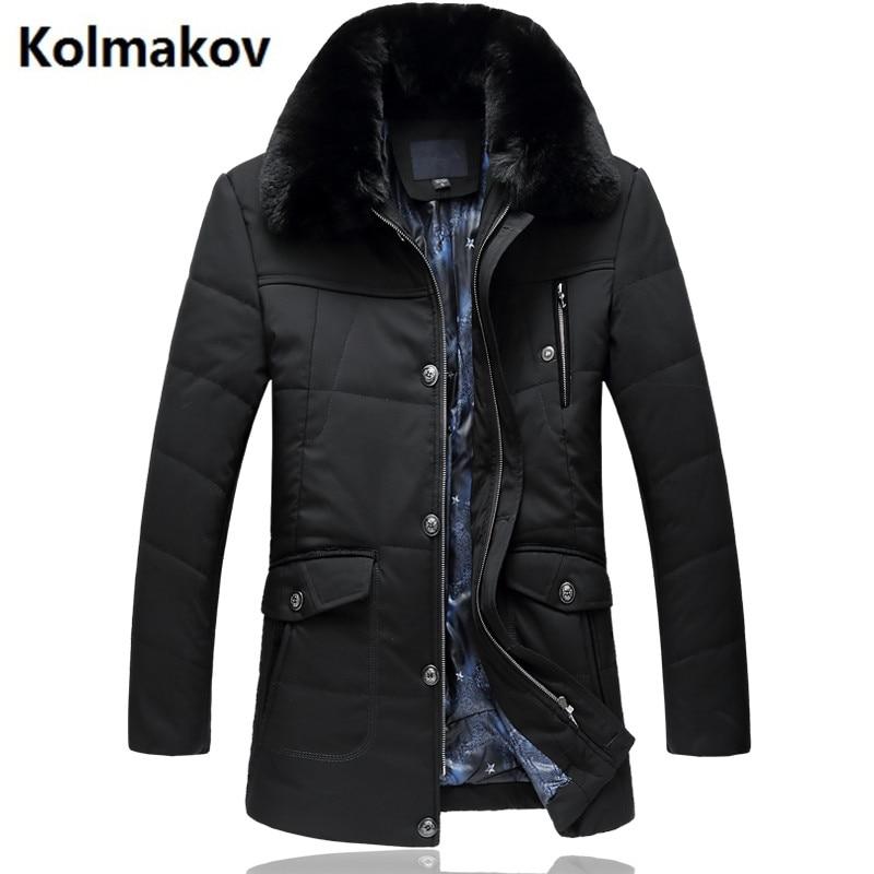 GUIXIANG 2017 Winter Mens fashion High quality Down jacket men Hooded winter jackets mens down coats full size L-7XL