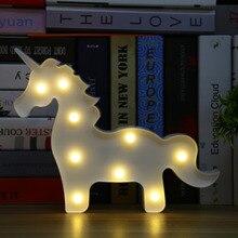 Unicórnio Lumiparty Decorativo LEVOU Pendurado Luzes Lâmpada Atmosfera Casa Crianças Decoração do Quarto LEVOU Nocturna Cintilante para Presente de Aniversário