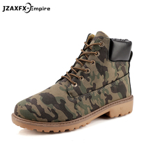 цены Suede leather man boot winter men boots ankle shoes camouflage warm work martin shoes cowboy motorcycle boots male shoes lace-up