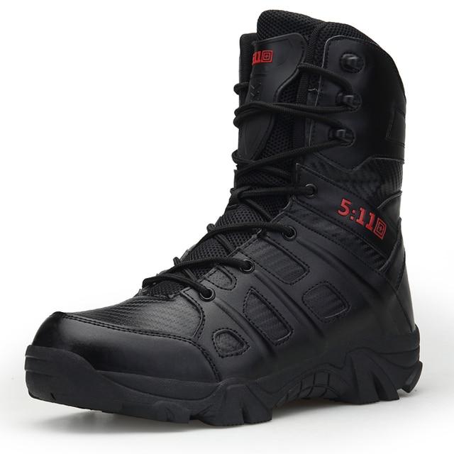 Для мужчин открытый альпинизм сапоги большие размеры Осень Мода Пеший Туризм обувь для Для мужчин спецназ пустыне тактические ботинки 39-47 размер