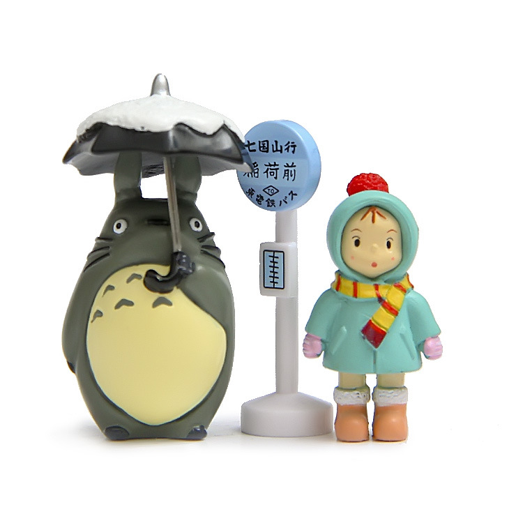 Hot ! NEW 4pcs/set 2cm-10cm mini My Neighbor Totoro Tonari no Totoro action figure toy Christmas gift my neighbor totoro pu purse tonari no totoro penny wallet with button type a