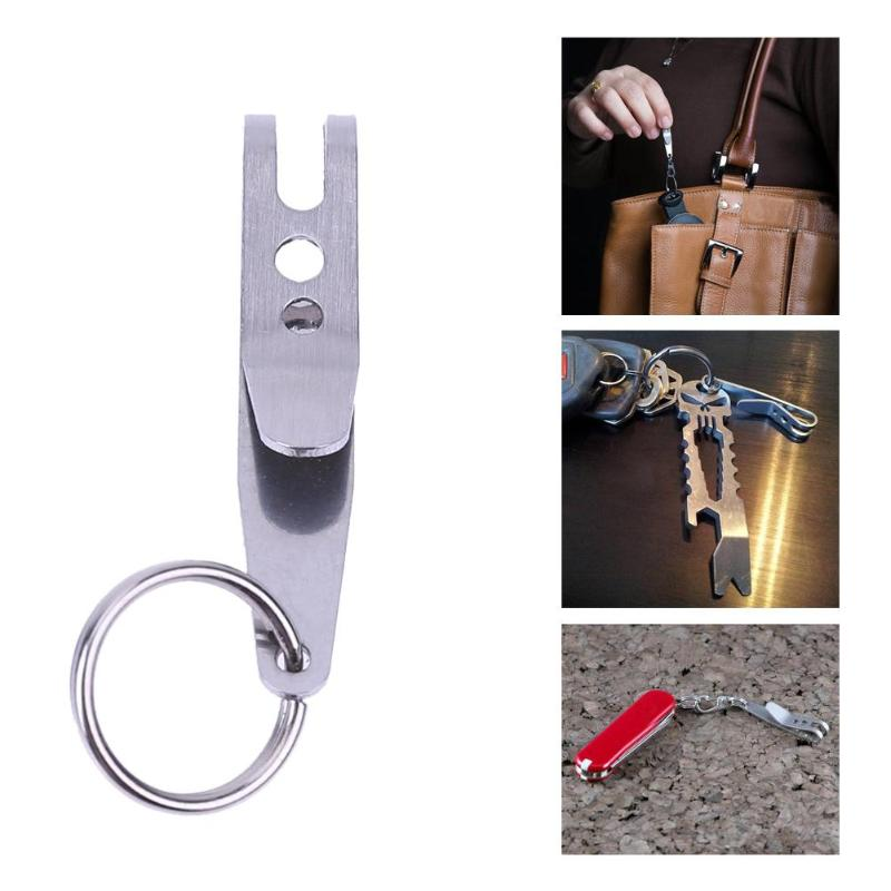 Mini Portable Pocket Bag Suspension Clip EDC Outdoor Camping Stainless Steel Multi Tools Multi-function Key Chain Clip HolderMini Portable Pocket Bag Suspension Clip EDC Outdoor Camping Stainless Steel Multi Tools Multi-function Key Chain Clip Holder