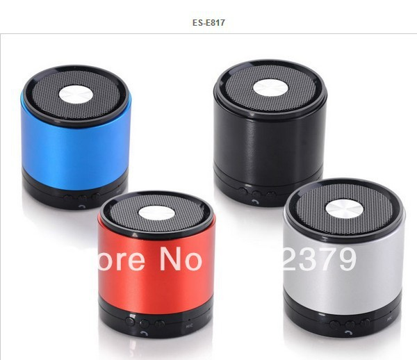Wireless bluetooth speaker E-817 stereo output, and built-in vibration damper,  low sound quality  .Low power alarm function