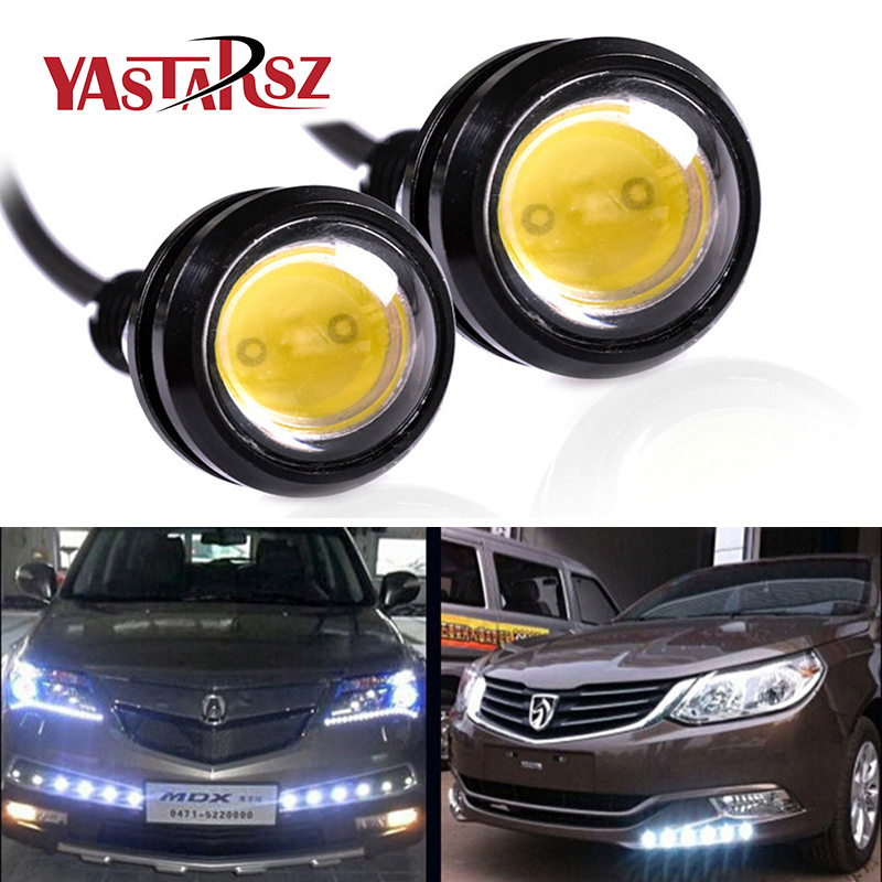 1PCS led drl eagle eye 18mm waterproof cob 12v 9w led car light led daytime running lights car styling auto fog lights parking