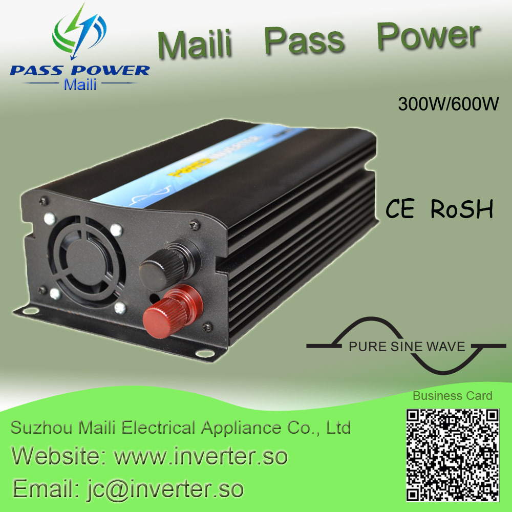 Brand New 300W Car Inverter DC 12V/24V/48V TO AC 100V~120V 220V~240V Pure Sine Wave Inverter china manufacture sell 300w 12v to 115v car use inverter maili brand one year warranty