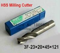 1 pcs/set 23MM 3 Flute HSS & Aluminium End Mill Cutter CNC Bit Milling Machinery tools Cutting tools.Lathe Tool
