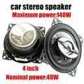Free Shipping 2016 12V MAX music power 140W Hot 2 pcs 4'' coaxial Car Speaker Automotive Car stereo Speakers audio