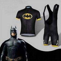 Hot Sale Batman cycling jersey kits batman bicycle short sleevebike clothing superhero customizable size XS 4XL