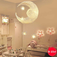 Moon&ampStar Pendant Lights Kid&#39s Room Lighting Modern Child Bedroom Lamps Aluminum for Living Room Home Decoration