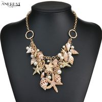Unique Design Shell Statement Necklaces Female Vintage Choker Necklace Costume Jewellery Womens Clothing Accessories Gift C21126