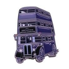 Значок в виде рыцаря автобуса Хогвартса магический трехэтажный автобус булавка Волшебный мир ювелирных изделий