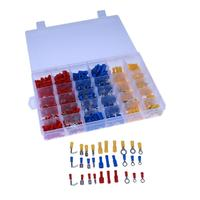 720Pcs Assorted Crimp Terminals Set Kits Insulated Electrical Wiring Connectors Insulated Cord Pin End Terminal Kit