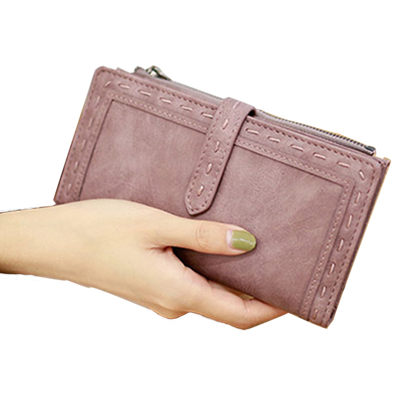 New Brand Women's Purse Fashion Lady PU Leather Long Women Wallet Female Purse Women Clutch Bag Money Coin Pocket Card Holder new head layer cowhide purse female butterfly skin carving bag long wallet retro handbag leather lady purse