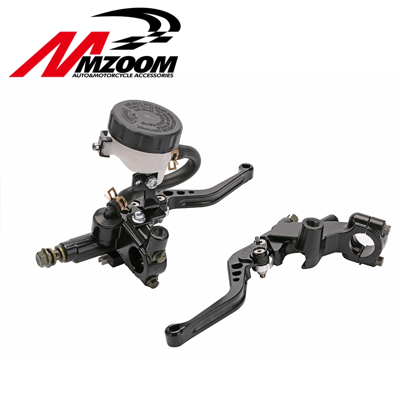 Universal CNC 22mm Motorcycle Brake Clutch Levers Master Cylinder Reservoir Set For Honda Suzuki Kawasaki Yamaha D10 8 colors universal for kawasaki ninja 250 2008 2009 2010 2011 2012 motocross clutch brake master cylinder reservoir levers cnc