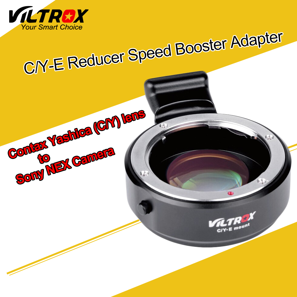Viltrox C/Y-E Focal Reducer Speed Booster Adapter for Contax Yashica C/Y Lens to Sony E NEX A7 II A7R A7S A6300 A6000 NEX-7/6 viltrox ef nex ii canon ef lens to sony full frame nex cameras nex 3n nex 6 nex 7 a6000 nex 5 5n 5r 5t sony a7 a7r a7m2 adapter