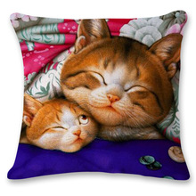 2016 Printed Aniamals Cats Cushion Without Core Decorative Throw Pillows Decorate Cushions Home Decor Sofa Chair Pillow 45*45cm