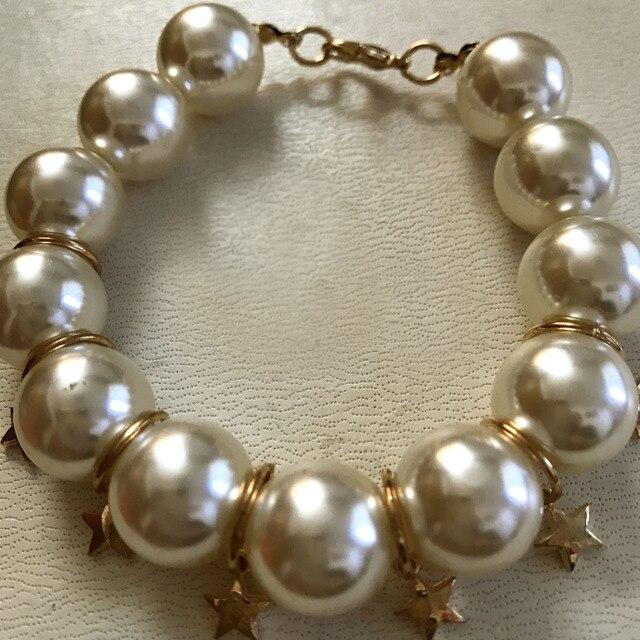 aad66a85a67 Korea fashion pentagram pearl elastic bracelet/pulseras mujer moda 2017/ bracelet femme/womens bracelets trendy/pulseira feminina