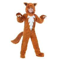 Kids Fox Costume Cute Animal Onesies What The Fox Say Halloween Fancy Dress Furry Jumpsuit Pamajas