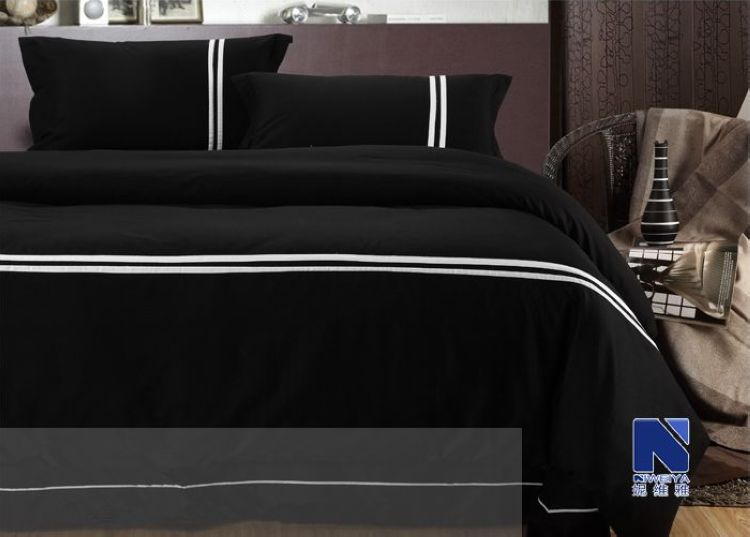 Bed Canopy Cover Picture More Detailed Picture About Pc Bedding - Black and white comforter sets king size