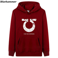 GAMER Awesome Hoodies Men Warhammer FOR THE EMPEROR Game Players Muat Have Casual Hooded Fleece Cotton Sweatshirt Champion Hoody