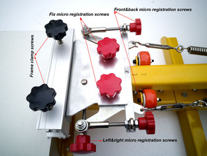 Image 5 - Livraison gratuite Micro enregistrement 4 couleurs 4 stations manuel sérigraphie machine pour t shirt imprimante équipement carrousel