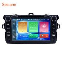 Seicane 2 Din Автомагнитолы 8 Android 8,0 Bluetooth gps DVD плеер для 2008 2014 Toyota Corolla Поддержка DVR DAB + резервного копирования Камера USB