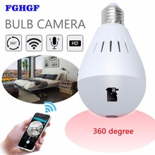 FGHGF 960P 360 degree Wireless IP Camera Bulb house cameras