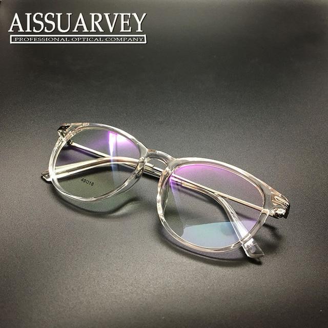 Eyeglasses frame women glasses frame ventage optical prescription round circle metal korean style brand designer transparent