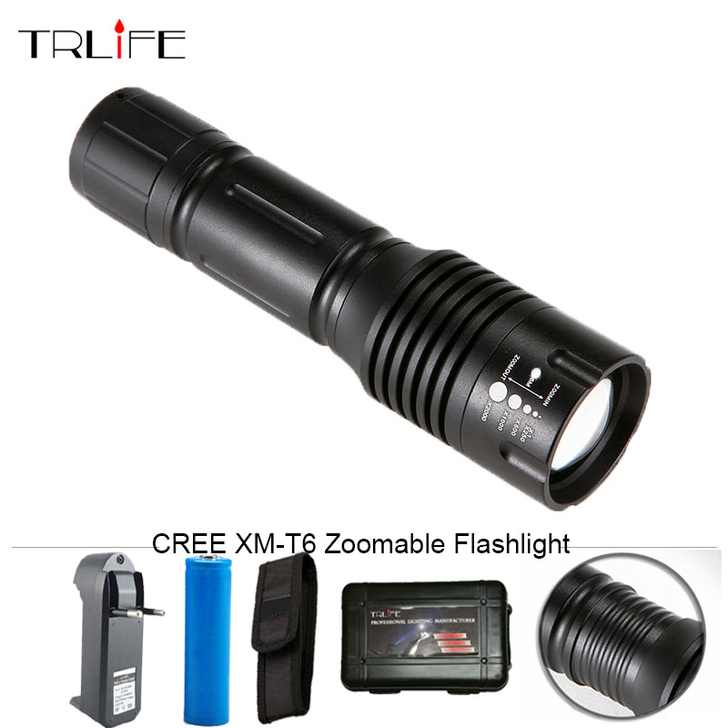 CREE XM-L T6 LED 6000 LM Flashlight Zoomable Torch Light 5-Modes Adjustable LED Flash Light Lamp Fishing for 18650/AAA Battery 3000 lumens zoomable cree xm l t6 led tactical flashlight torch zoom lamp light waterproof led 5 modes for 1x18650 3xaaa