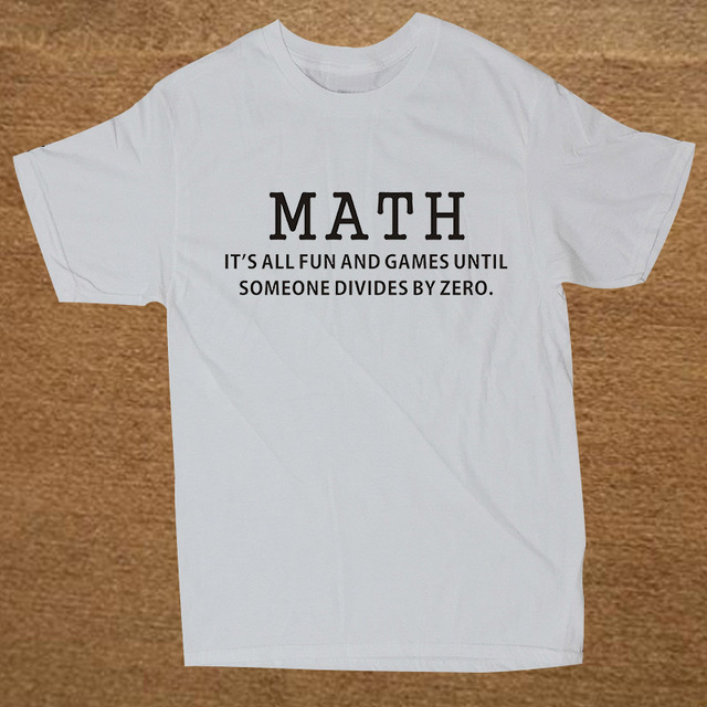 da2c57a2 Summer New Premium Math All Fun and Games Divid T Shirt Men Novelty Funny  Tshirt Man Clothing Short Sleeve Camisetas T-shirt
