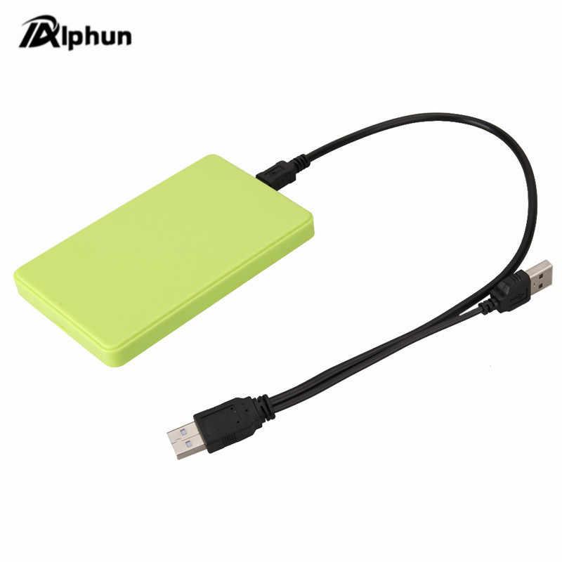 5 اللون 2.5 بوصة دفتر SATA HDD حالة إلى Sata USB 2.0 SSD HD قرص صلب التخزين الخارجية ضميمة مربع مع USB 2.0 كابل