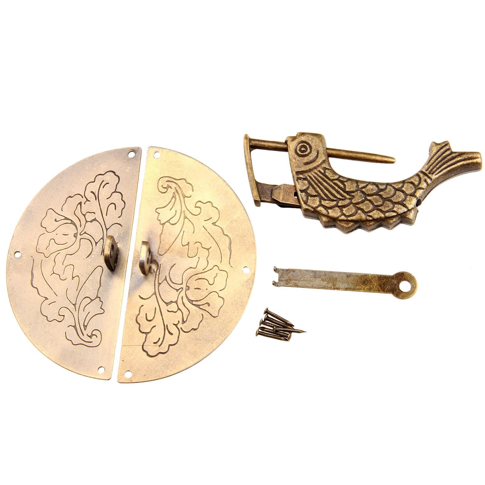 poignee de meuble en bronze antique serrure ancienne chinoise 1 piece boite en bois vintage poignee d armoire accessoires de meubles