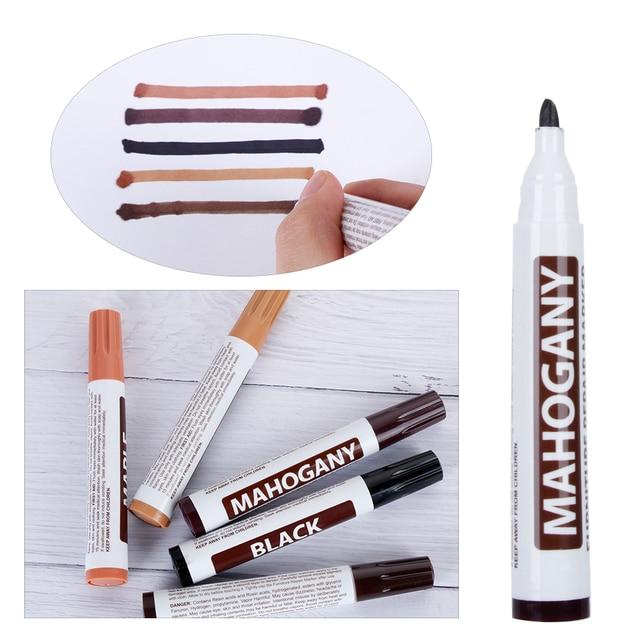 1Pc bois réparation stylo meubles peinture plancher réparation plancher cire Crayon endommagé rayure Patch peinture stylo bois Composite réparation matériel