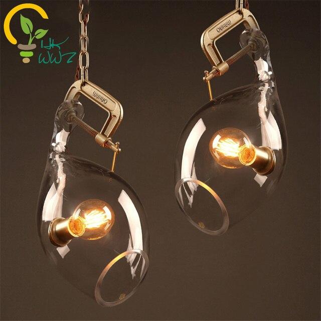 Loft Stil Vintage Kreative Glas Fisch Mund Design Lampe Pendelleuchte Retro Wohnzimmer Anhnger Lightsluminaire Suspendu