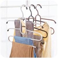 Multifunções skid lenços tie rack rack de calças cabide de metal, multi rack de armazenamento do armário