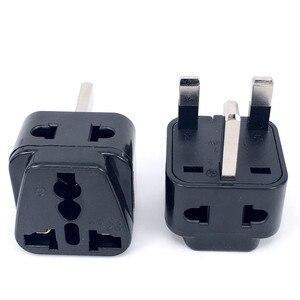 2 in 1 Universal to UK Plug Adapter Travel to UK/Hong Kong Type G Adapter Converter Socket Splitter Plug Charger Electrical Plug(China)