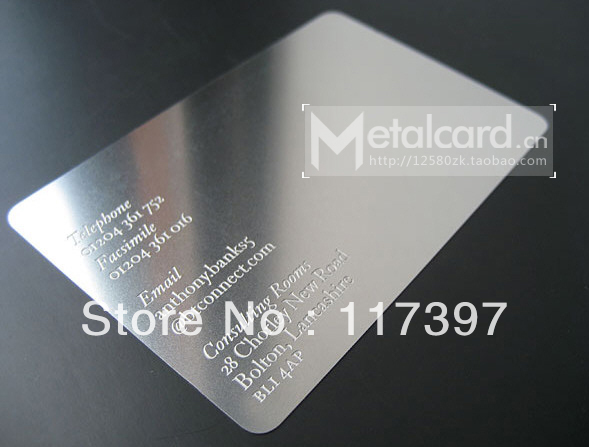 Wholesales Stainless Steel Business Name Card Silver Color Deluxe