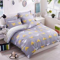 Completo Letto Matrimoniale French Dog Bedclothes 4pcs Cotton Bedding Set Duvet Cover Sheet Pillowcase Home Textile
